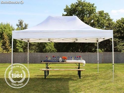 3x4 5m gazebo pieghevole premium bianco. Black Bedroom Furniture Sets. Home Design Ideas