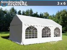 3x6 m pvc Partytent. Bialy