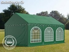 3x6m PVC Marquee / Party Tent w. Groundbar, dark green