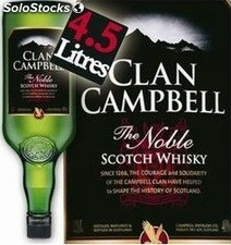4.5L whisky clan campbell 40°