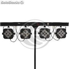 4 Bar 9 led PAR56 bulbs 3W rgb DMX512 (XG72)