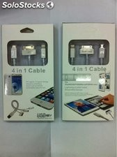 4 in 1 cable de USB Samsung Android