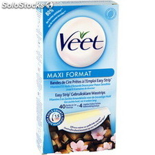 40 bandes cire froide maxi forme veet