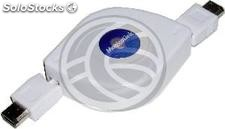 400 ieee 1394 FireWire Cable Retractable 135cm (6Pin-m/m) (EX44)
