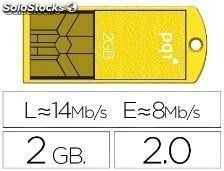 43924 Memoria usb ipq flash mini 2 gb 2.0 slim w0aterproof amarillo