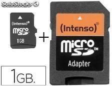 44013 Memoria sd micro intenso flash 1 gb con adaptador