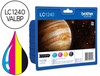 49894 Ink-jet brother lc-1240 pack 4 colores -600pag- mfc-j6510dw mfc-j6710dw