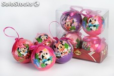 4BOULES de noel disney minnie