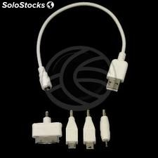 4in1 usb Charger Cable 30pin Apple jack Micro usb 2.5 mini usb (AA84)