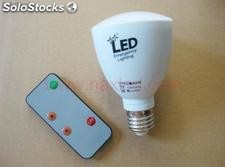 4Watt rechargeable led bulb, dimmable with remote controller, e27