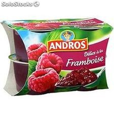 4X100G compote delice framboise andros