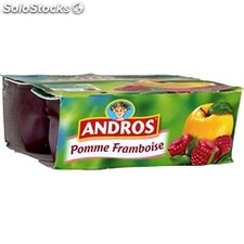 4X100G compote pomme/framboise andros