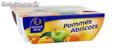 4X100G compote pommes/abricots grand jury