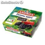 4X100G compote pommes/mures andros