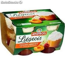 4X100G liegeois abricot/framboise andros