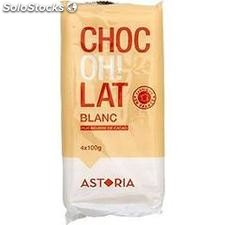 4X100G tablette chocolat blanc confiserie blanche astor