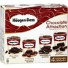 4X100ML glace chocolat attract haagen daz