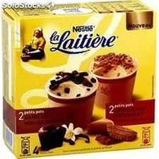 4X100ML glace vanille/chocolat/speculoos la laitiere
