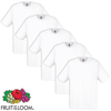 5 camisetas blancas para hombres Fruit of the Loom algodón M