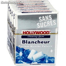 5 etuis 10 dragees blancheur menthe polaire hollywood