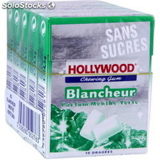5 etuis 10 dragees blancheur menthe verte hollywood