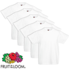5 t-shirts enfant 100% coton blancs Fruit of the Loom Original t 140