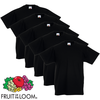 5 t-shirts enfant 100% coton noirs Fruit of the Loom Original t 140