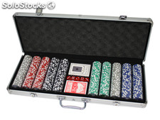 500 Poker Chips mit Alukoffer (11,5 Gramm, Chips DELUXE)