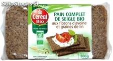 500G pain complet seigle&avoine cereal bio