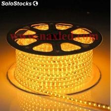 5050 led strips 220v - yellow - 100m/roll