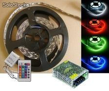 5050 rgb led strips, Luces de navidad, with remote controller & transformer