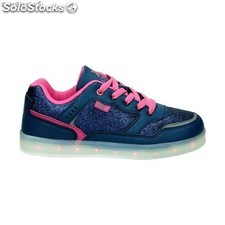 54622 deportiva XTI Kids LED glitter navy