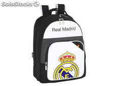 57289 Cartera escolar safta real madrid mochila doble 32x42x16 cm