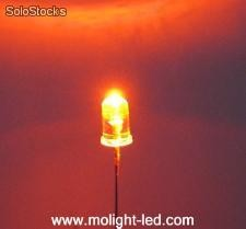 5mm Round Type led (water clear lens) - Red