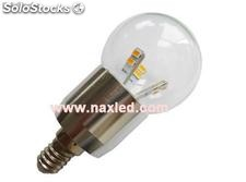 5w fancy ball led bulbs, dimmable, e14, frosted/clear lens