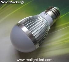 5w high power led bulb cold white 6000-6500k dimmable