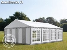 5x8m PVC Marquee / Party Tent, grey-white