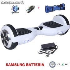 6.5 smart balance hoverboard elettrico scooter ruote skateboard bluetooth bianco