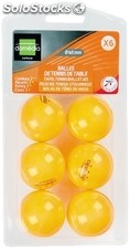 6 balle tennis de table orange