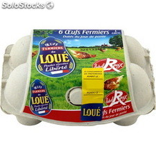 6 oeufs label rouge loue