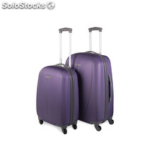 64214 set 2 trolleys abs marca tempo morado