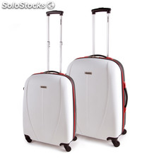 64215 set 2 trolley abs bicolore mark tempo Bianco e nero