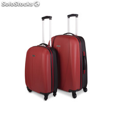 64215 set 2 trolley abs bicolore mark tempo Rosso-nero