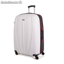 64271 trolley abs bicolore grande 75 cm mark tempo Bianco e nero