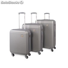64500 set 3 trolley abs marca jaslen Argento