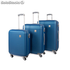 64500 set 3 trolley abs marca jaslen Blu