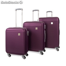 64500 set 3 trolleys abs marca jaslen morado