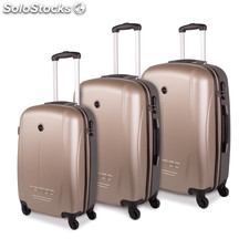 66100 set trolleys abs 50/60/70CM champagne-gris oscuro