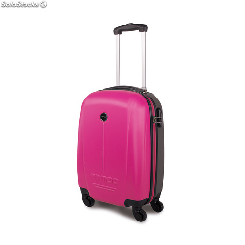 66150 trolley abs cabina low cost marca tempo fucsia-gris oscuro