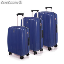 66800 conjunto de 3 trolleys polipropileno marca jaslen Azul Royal